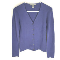 SAKS FIFTH AVENUE 100% CASHMERE Sweater Size Small Blue V-Neck Womens Soft