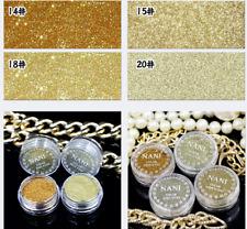 4PC/Set Dust Glitter Pot Nail Art Face Body Eye Shadow Craft Iridescent Cosmetic
