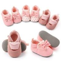 Baby Girls No-slip Bowknot Toddler Infant Newborn Soft Sole Shoes 3-11 Month New