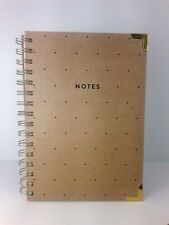 Eccolo Spiral Notebook Journal - Cardboard Cover • Dots • Gold Trim • NEW