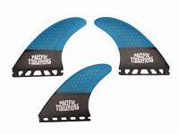 Pacific Vibrations quad honeycomb Carbon Surfboard fins Fcs2  Stretch Template