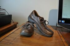 DANSKO womens size 40 (9.5) shoes oxford clogs sneakers Brown lace up ~ leather