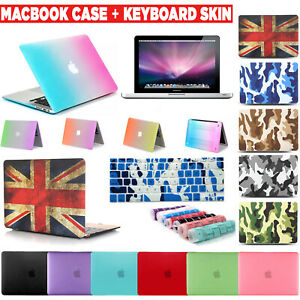 Full Body Hard Case Cover + keyboard Gel For MacBook Air 11.6 12 Pro 13.3 15.4