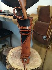 Leather Handmade Scabbard Henry Mares Leg Rossi Ranch Hand Holster Western Atv