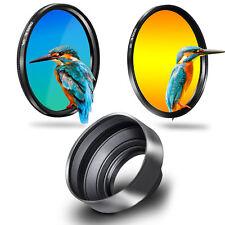 Phot-R 67mm Slim UV + Circular Polarising CPL Filter + 3in1 Rubber Lens Hood Kit