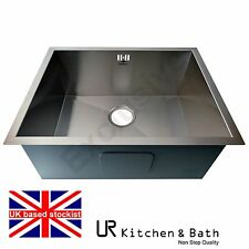 SINK KITCHEN STAINLESS STEEL SINGLE SMALL BOWL UNDER MOUNT URS225KB THREE SIZES