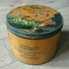 Large vintage sweet tin, Rileys rum & butter flavoured toffee