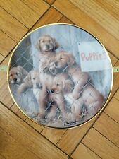 Franklin Mint Limited Edition A.S.P.C.A. Adopt A Puppy Fine Porcelain Plate