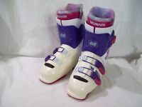 Munari ski boots ME Central Entry Line 100 Wrap Adjustment Pink White sz 281MM