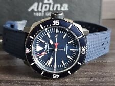 Alpina SeaStrong GMT Diver Watch 300m  Quartz + BOX + PAPERS.....Faulty Date