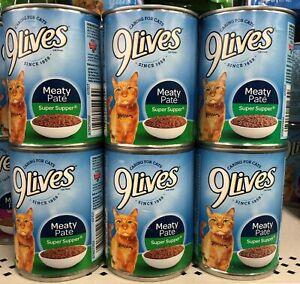 6 CANS 9Lives Meaty Paté Super Supper Wet Cat Food 13 oz Can Meat