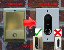 Nest Hello NON FLUSH MOUNT Doorbell adapter plate Nutone and M&S intercom sys