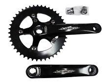 "Lasco Chainwheel & Crank Set Fixie/Track/BMX Bike Alloy 44T x 1/8"" x 170mm Black"