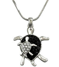 """Sea Turtle Mom and Baby Pendant Necklace 18"""" Chain Gift Boxed Fast Shipping"""