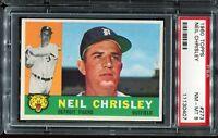 1960 Topps Baseball #273 NEIL CHRISLEY Detroit Tigers PSA 8 NM-MT