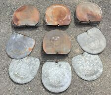 Old Vtg The Grimm Cover Galvanized Metal Sap Syrup Pail Bucket Lid Lot Of 50