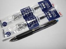 (2 pens + 5 refills Pack) uni-ball singo 207 0.5mm roller ball pen, Blue Black