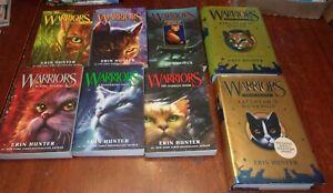 8 Cat Warriors Books Full Set Warriors 1-6 &  2 Special Editions Erin Hunter Lot