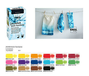 Batikfarbe, Textilfarbe für Batik, Tauchbatik 70g je Packung (4,57€/100g)