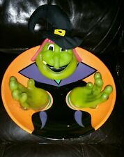 Halloween talking witch candy bowl