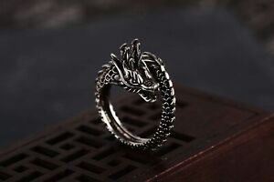 Ring Dragon Jewelry Punk Fashion Man Gothic Adjustable Vintage Rings Finger Wome