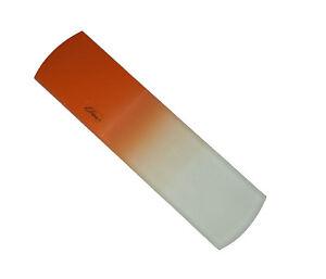 Genuine Czech Orange Crystal Glass 5 1/4 inch Spa Bar Slab Foot File by iDiva