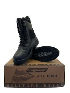 Highlander ATF Military Style Black Boots Size 9