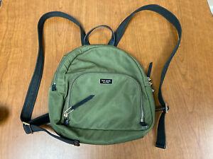 Kate Spade New York Green Nylon Women's Small Adjustable Strap Backpack