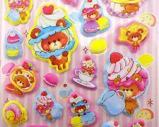 Japanese Dessert Head teddy bear PUFFY stickers! Kawaii taiyaki macaron pancake