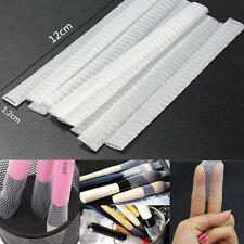 20pcs White Cosmetic Brushes Net Guards Mesh Protectors Cover Sheath Storage Net