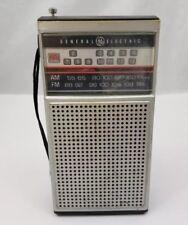 Vtg General Electric AM/FM TV Transistor Radio GE Model 7-2924A DC Power Works