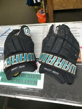 Pro Stock San Jose Sharks Warrior Franchise Gloves Ice Hockey 14� Refurbished