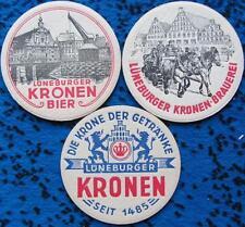 Alte Bierdeckel Serie Lüneburg Kronen Brauerei Moravia Pils - Stadtmotive  1965