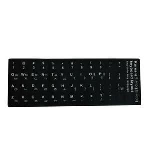 Black Standard Keyboard Stickers For Spanish/Arabic/English/French/Korean  8U9I