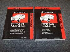 2001 Toyota 4Runner Workshop Shop Service Repair Manual Set SR5 Limited 3.4L V6
