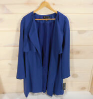 INC International Concepts Womens Sz XXL Open Front Jacket Blue Duster MSRP $119