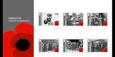 Gibraltar 2014 begin van 1e Wereldoorlog  WWI   presentation pack  postfris/MNH