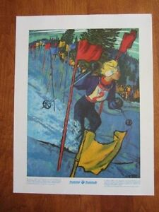 VINTAGE POSTER~Anne Heggtveit 1960 Canada Olympic Gold 1970's Prudential Print~