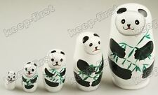 2013 Panda Christmas Russian Nesting Dolls for Holiday/Gift