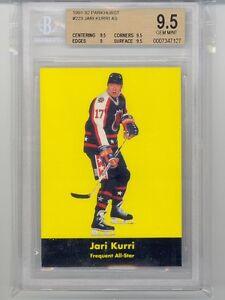 1991 Parkhurst Jari Kurri (HOF) (All-Star Card) (#223) (Subs 3-9.5's/1-9) BGS9.5