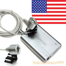 USA New Portable Silver LED Head Light Lamp for Dental Surgical Binocular Loupes