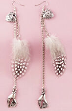 F1763 fashion light Feather chain palm heart for true love dangle earrings New