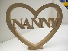 "HEART ""NANNY"" CUT OUT Free Standing  18mm thick"