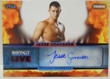 2013 TNA Impact Wrestling Live Jesse Sorensen SP Blue Autograph # 2 / 25