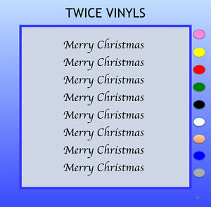 MERRY CHRISTMAS & HAPPY NEW YEAR STICKY LETTERS