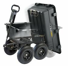 Gorilla Carts Lawn Tractor Attachments Heavy Duty Garden Poly Dump Cart 2 In 1