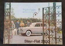Prospekt brochure STEYR-FIAT 2300 de luxe ca. 1964 ORIGINAL!