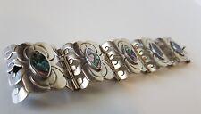 70er Silber Maxican Alpaca Perlmutt silver Boho Hippie Armband Blogger Bracelet