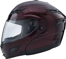 MEDIUM GMAX GM54s WINE MODULAR  Helmet LED Motorcycle