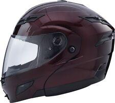 LARGE GMAX GM54s WINE MODULAR  Helmet LED Motorcycle